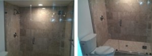 A remodeled bathroom in Chevy Chase, Maryland.